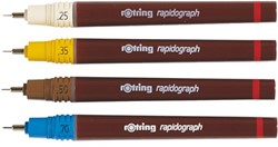 TEKENPEN ROTRING 155013 RAPIDOGRAPH 0.13MM PAARS 1 STUK