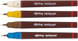 TEKENPEN ROTRING 155050 RAPIDOGRAPH 0.50MM BRUIN 1 STUK
