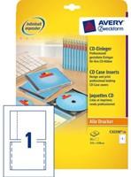 CD INLEGKAART AVERY ZWECK C32250-25 151X118MM 25ST 25 VEL-1