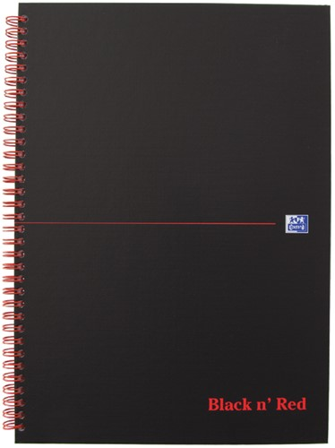 NOTITIEBOEK OXFORD BLACK N' RED A4 RUIT KARTON 1 Stuk