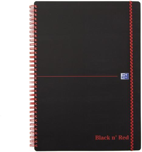 NOTITIEBOEK OXFORD BLACK N' RED A4 PP RUIT 1 Stuk