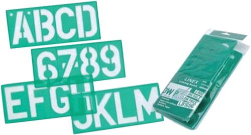 LETTERSJABLOON LINEX 100MM HOOFDL/LETTERS/CIJFERS 1 Stuk
