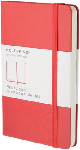NOTITIEBOEK MOLESKINE BLANCO POCKET ROOD 1 Stuk