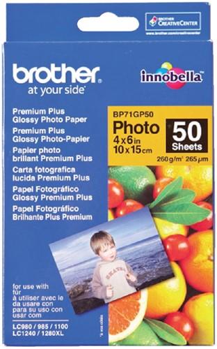 FOTOPAPIER BROTHER BP-71 10X15CM 260GR GLANS 50 Vel