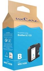 INKCARTRIDGE WECARE BRO LC-123 BLAUW 1 STUK