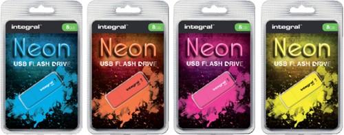 USB-STICK INTEGRAL FD 16GB NEON ORANJE 1 STUK-2