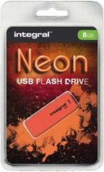 USB-STICK INTEGRAL 8GB 2.0 NEON ORANJE 1 STUK