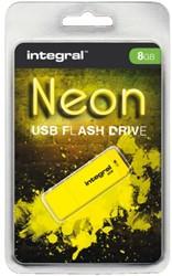 USB-STICK INTEGRAL 8GB 2.0 NEON GEEL 1 STUK