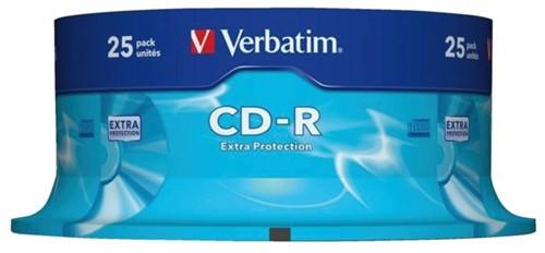 CD-R VERBATIM 700MB 52X 25PK SPINDEL 25 STUK