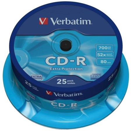 CD-R VERBATIM 700MB 52X 25PK SPINDEL 25 STUK-2