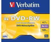 DVD+RW VERBATIM 4.7GB 4X 5PK JC 1 STUK-2