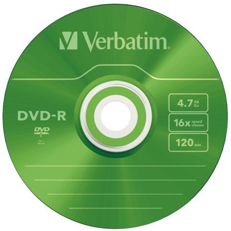 DVD-R VERBATIM 4.7GB 16X COLOUR 5PK SLIMLINE JC 5 STUK-2