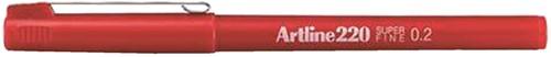 FINELINER ARTLINE 220 ROND 0.2MM ROOD 1 Stuk