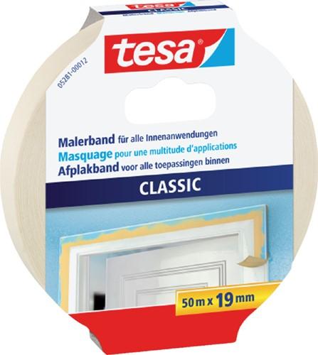 AFPLAKTAPE TESA 19MMX50M CLASSIC CREME 1 Stuk