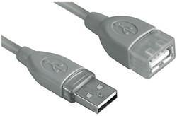 KABEL HAMA USB 2.0 A-A VERLENG 5M GRIJS 1 STUK