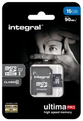 GEHEUGENKAART INTEGRAL MICRO SDHC 16GB ULTIMAPRO CL10 1 STUK