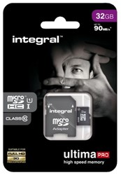 GEHEUGENKAART INTEGRAL MICRO SDHC 32GB ULTIMAPRO CL10 1 STUK