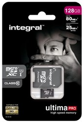 GEHEUGENKAART INTEGRAL MICRO SDXC 128GB ULTIMAPRO CL10 1 STUK