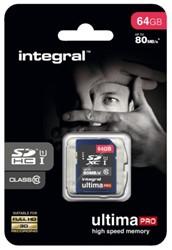 GEHEUGENKAART INTEGRAL SDHC 64GB ULTIMAPRO CL10 1 STUK