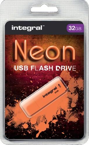 USB-STICK INTEGRAL FD 32GB NEON ORANJE 1 Stuk