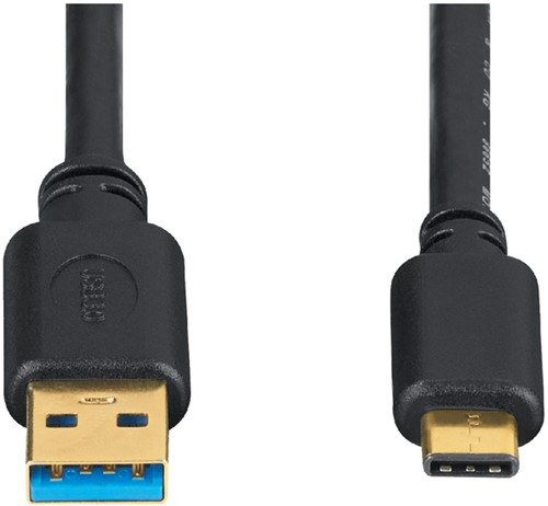 KABEL HAMA USB C-A 3.1 0.75METER ZWART 1 Stuk