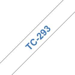 LABELTAPE BROTHER TC-293 9MMX8M WIT/BLAUW 1 STUK