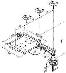 """LAPTOP ARM NEWSTAR D200 10-17"""" ZILVER 1 STUK"""