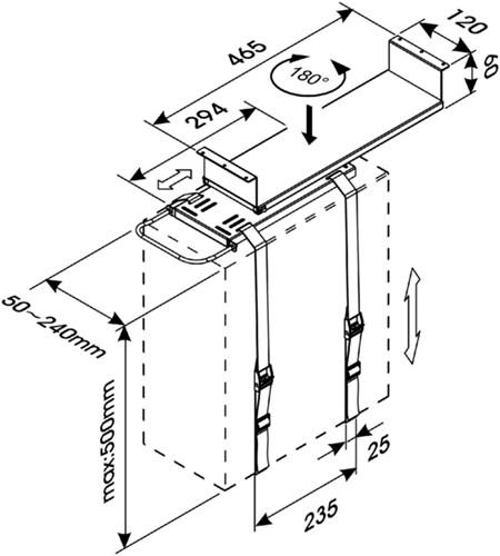 CPU HOUDER NEWSTAR D050 ZWART 1 STUK-2