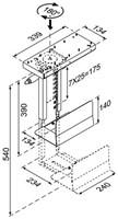 CPU HOUDER NEWSTAR D250 ZWART 1 STUK-2