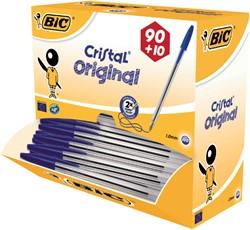 BALPEN BIC CRISTAL BLAUW 90+10 STUK