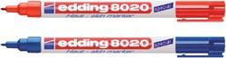 VILTSTIFT EDDING 8020 HUID ROND 1MM ROOD 1 STUK