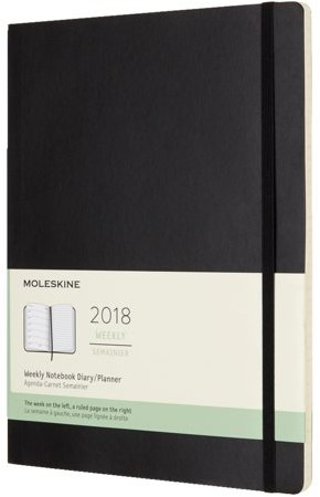 AGENDA 2018 MOLESKINE 12MND POCKET SOFT ZWART 1 STUK-6