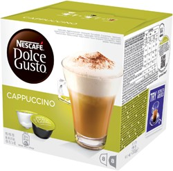 DOLCE GUSTO CAPPUCCINO 16 CUPS / 8 DRANKEN 16 CUP