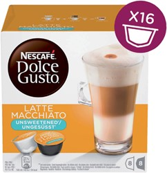 DOLCE GUSTO LATE MACCHIATO UNSWEETENED 16 CUPS / 8 16 CUP