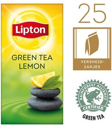 THEE LIPTON GREEN TEA LEMON 1.5GR 25 STUK
