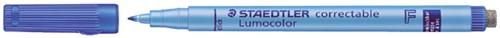 VILTSTIFT STAEDTLER OHP LUMO F 305 CORRECTABLE BL 1 Stuk