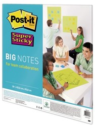 SCRUM BIG NOTES 3M POST-IT 55.8CMX55.8CM NEON GROEN 30 VEL