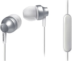 HEADSET PHILIPS E3855 IN EAR ZILVER WIT 1 STUK