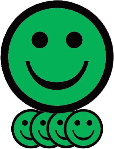 MAGNEET SMILEY 5CM EMOTIE BLIJ GROEN 5 Stuk