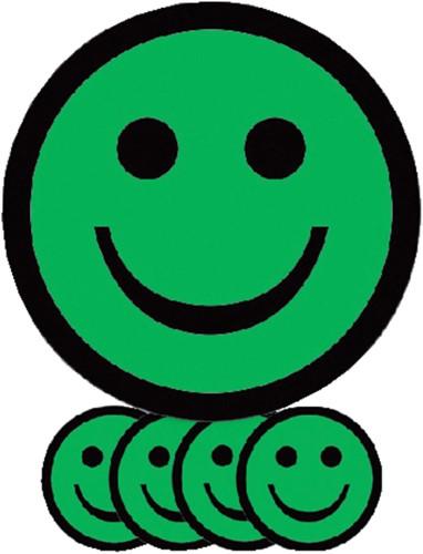 MAGNEET SMILEY 7.5CM EMOTIE BLIJ GROEN 5 Stuk