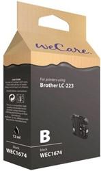 INKCARTRIDGE WECARE BRO LC-223 ZWART 1 STUK