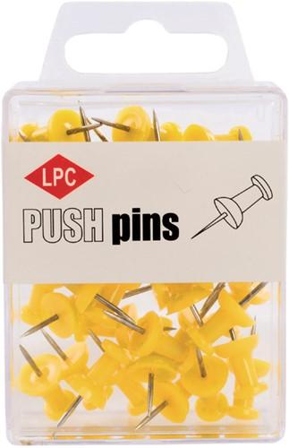 PUSH PINS LPC GEEL 40 Stuk
