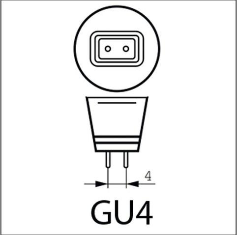 HALOGEENLAMP PHILIPS GU4 35W 12V BRILLIANTLINE 1 STUK-1