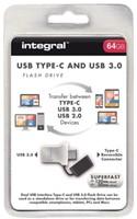 USB-STICK INTEGRAL FD 64GB 3.0 TYPE C ZILVER 1 STUK-1