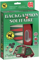 SPEL JUMBO BACKGAMMON & SOLITAIRE TRAVEL 1 STUK