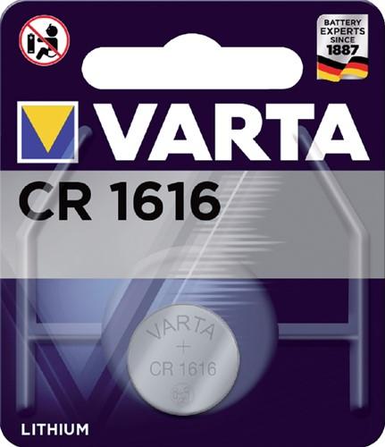 BATTERIJ VARTA CR1616 LITHIUM 1ST