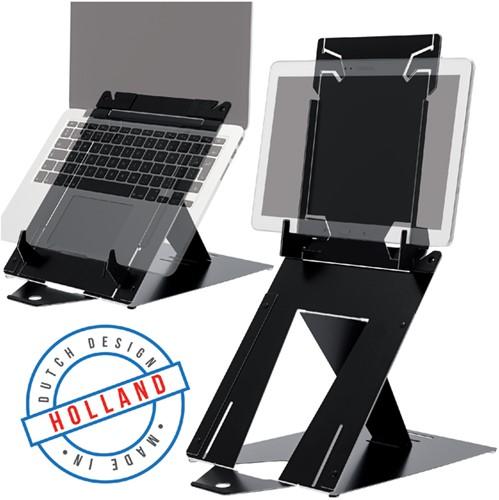 LAPTOPSTANDAARD R-GO RISER DUO LAPTOP/TABLET ZWART 1 Stuk