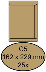 ENVELOP CLEVERMAIL AKTE C5 162X229 80GR 25ST BRUIN 25 STUK