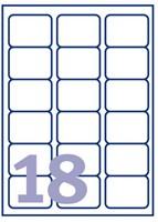 ETIKET AVERY J8161-25 63.5X46.6MM 450ST 25 VEL