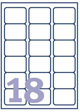 ETIKET AVERY J8161-40 63.5X46.6M 720ST 40 VEL